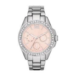 Merona Women's Glitz Bracelet Watch - Silver/Pink