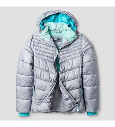 C9 Champion Girl's Puffer Jacket - Gray - Size: Small