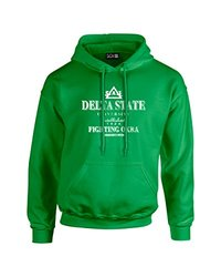 NCAA Delta State Statesmen Stacked Vintage Long Sleeve Hoodie, Small, Irish Green