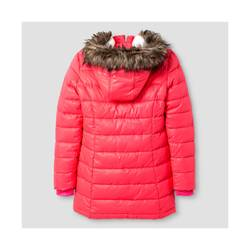 Cat & Jack Girl's Long Puffer Jacket - Pink - Size: X-Small