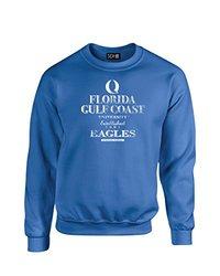NCAA Florida Gulf Coast Eagles Stacked Vintage Crew Neck Sweatshirt, X-Large, Royal