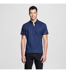 Men's Short Sleeve Button Down Shirt - Navy