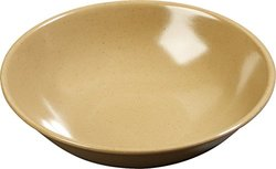 Carlisle 10-oz. Melamine Salad Bowl - Case of 72 - Maple