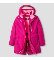 C9 Champion Girls' Heavy Weight Parka Jacket - Pink - Size: Large