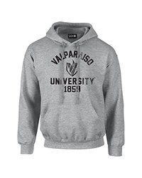 NCAA Valparaiso Crusaders Mascot Block Arch Long Sleeve Hoodie, XX-Large, Sport Grey