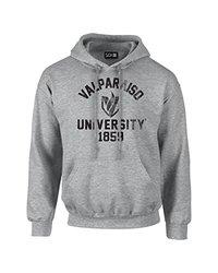 NCAA Valparaiso Crusaders Mascot Block Arch Hoodie - Sport Grey - XXL