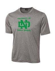 NCAA North Dakota School Standard Mascot Tech Performance T-Shirt, XX-Large, Sport Grey