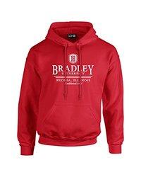 NCAA Bradley Braves Classic Seal Long Sleeve Hoodie, X-Large, Red