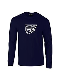 NCAA Emory Eagles Mascot Foil Long Sleeve T-Shirt - Navy - X-Large