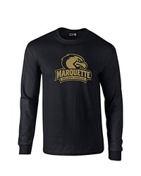 NCAA Marquette Golden Eagles Mascot Foil Long Sleeve T-Shirt -Black -Large