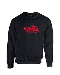 NCAA Illinois State Redbirds Mascot Foil Crew Neck Sweatshirt, XX-Large, Black