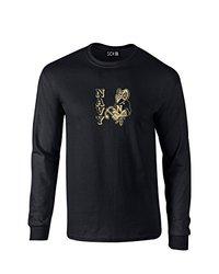 NCAA Navy Midshipmen Mascot Foil Long Sleeve T-Shirt, Large, Black