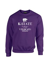NCAA Kansas State Wildcats Stacked Vintage Crew Neck Sweatshirt, Small, Purple
