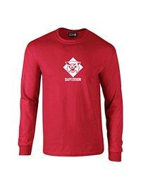 NCAA Davidson Wildcats Mascot Foil Long Sleeve T-Shirt, Large, Red