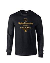 NCAA Baylor Bears Stacked Vintage Long Sleeve T-Shirt, X-Large, Black