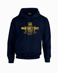 NCAA Murray State Racers Classic Seal Long Sleeve Hoodie, Medium, Navy