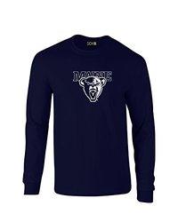 NCAA Maine Black Bears Mascot Foil Long Sleeve T-Shirt, X-Large, Navy