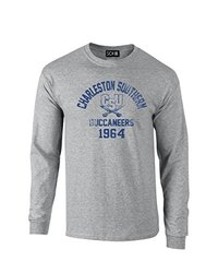 NCAA Charleston Southern Buccaneers Mascot Block Arch Long Sleeve T-Shirt, XX-Large, Sport Grey
