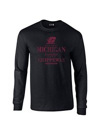 NCAA Central Michigan Chippewas Stacked Vintage Long Sleeve T-Shirt, XX-Large, Black