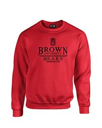 NCAA Brown Bears Classic Seal Crew Neck Sweatshirt, Large, Red