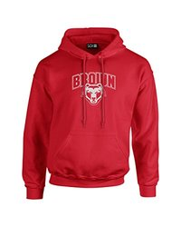SDI Men's NCAA Brown Bears Mascot Long Sleeve Hoodie - Red - Size: XXL