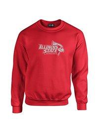 NCAA Illinois State Redbirds Mascot Foil Crew Neck Sweatshirt, Small, Red