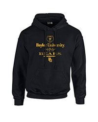 NCAA Baylor Bears Stacked Vintage Long Sleeve Hoodie, Small, Black