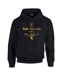 NCAA Baylor Bears Stacked Vintage Long Sleeve Hoodie, Small, Black