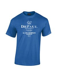 NCAA Depaul Blue Demons Stacked Vintage T-Shirt, Small, Royal