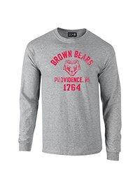 NCAA Brown Bears Mascot Block Arch Long Sleeve T-Shirt, Large, Sport Grey