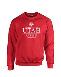 NCAA Utah Utes Classic Seal Crew Neck Sweatshirt, XX-Large, Red