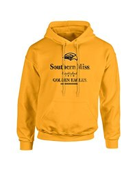 NCAA Southern Mississippi Golden Eagles Stacked Vintage Long Sleeve Hoodie, XX-Large, Gold
