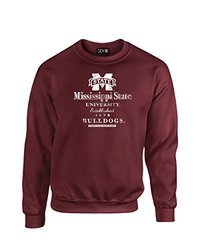 NCAA Mississippi State Bulldogs Stacked Vintage Crew Neck Sweatshirt, X-Large, Maroon