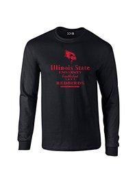 NCAA Illinois State Redbirds Stacked Long Sleeve T-Shirt - Black - XXL