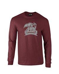 NCAA Colgate Raiders Mascot Foil Long Sleeve T-Shirt, Medium, Maroon