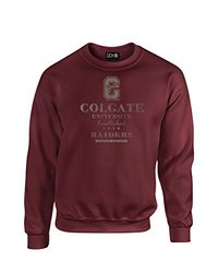 NCAA Colgate Raiders Stacked Vintage Crew Neck Sweatshirt, Small, Maroon