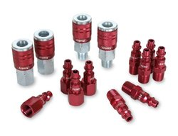Aluminum Steel Universal Quick Coupler Plug Kit - Red (A73458D)
