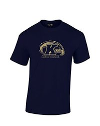 NCAA Kent State Golden Flashes Mascot Foil Short Sleeve Tee, XX-Large, Navy