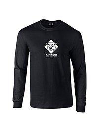 NCAA Davidson Wildcats Mascot Foil Long Sleeve T-Shirt, Small, Black