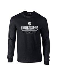 NCAA Western Illinois Leathernecks Classic Seal Long Sleeve T-Shirt, XX-Large, Black