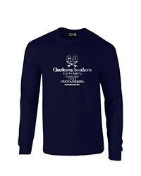 NCAA Charleston Southern Buccaneers Stacked Vintage Long Sleeve T-Shirt, Small, Navy