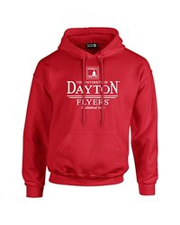 NCAA Dayton Flyers Classic Seal Long Sleeve Hoodie, Small, Red