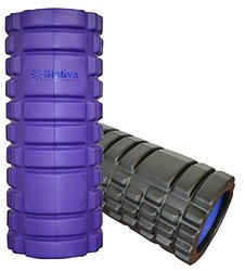 BINTIVA Reinforced Hollow Foam Roller For Deep Tissue Massage: Purple