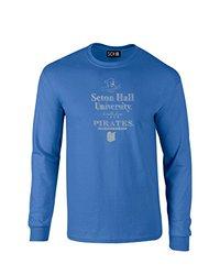 NCAA Seton Hall Pirates Stacked Vintage Long Sleeve T-Shirt, X-Large, Royal