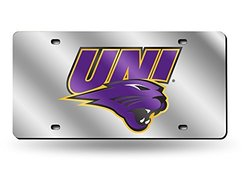 Northern Iowa Deluxe Mirrored Laser Cut License Plate