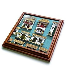 3dRose Typical Hand Crafts From Cartagena Trivet with Ceramic Tile - Brown