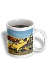 3dRose 11-Ounce Capacity Cub Plane Mug - Yellow