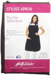 A Size Above Stylist Apron, 2X, Chocolate Brown