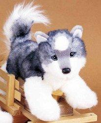 """Plush Joli Husky Dog 12"""""""