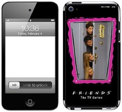 Zing Revolution Friends Premium Vinyl Adhesive Skin for iPod touch 4G, Heads
